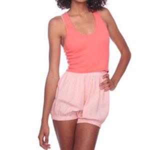 American Apparel pink + white striped bloomer XS/S